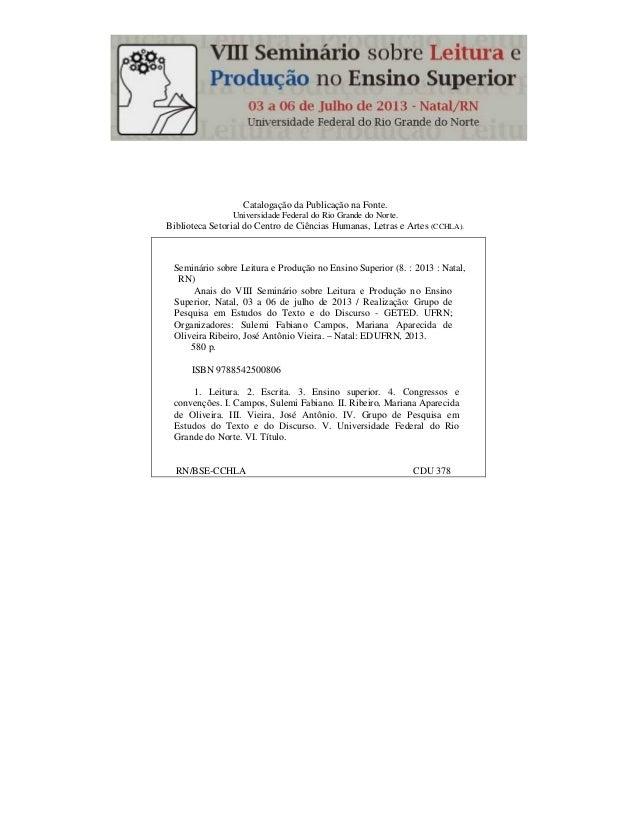 Catalogação da Publicação na Fonte. Universidade Federal do Rio Grande do Norte. Biblioteca Setorial do Centro de Ciências...
