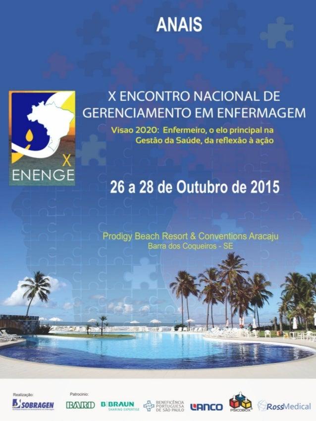 Anais X ENCONTRO NACIONAL DE GERENCIAMENTO EM ENERMAGEM