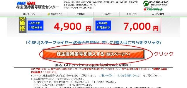ANA・JAL株主優待番号販売センター