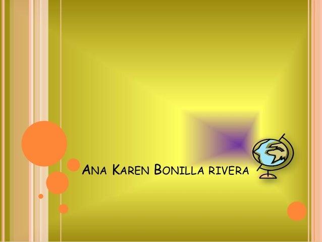 ANA KAREN BONILLA RIVERA