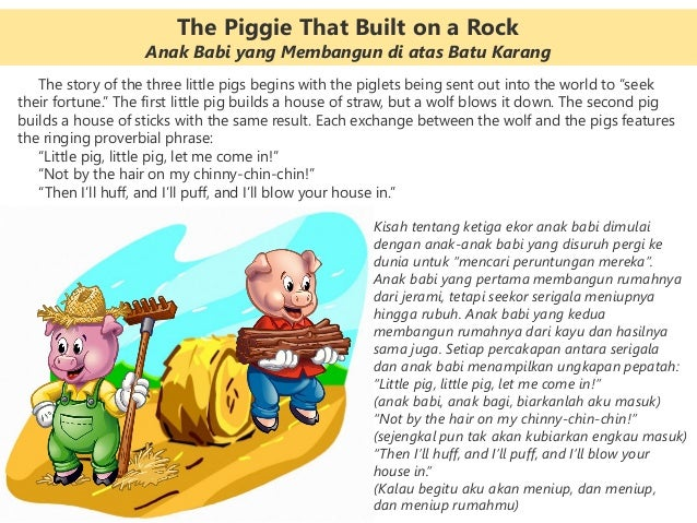 """The story of the three little pigs begins with the piglets being sent out into the world to """"seek their fortune."""" The firs..."""