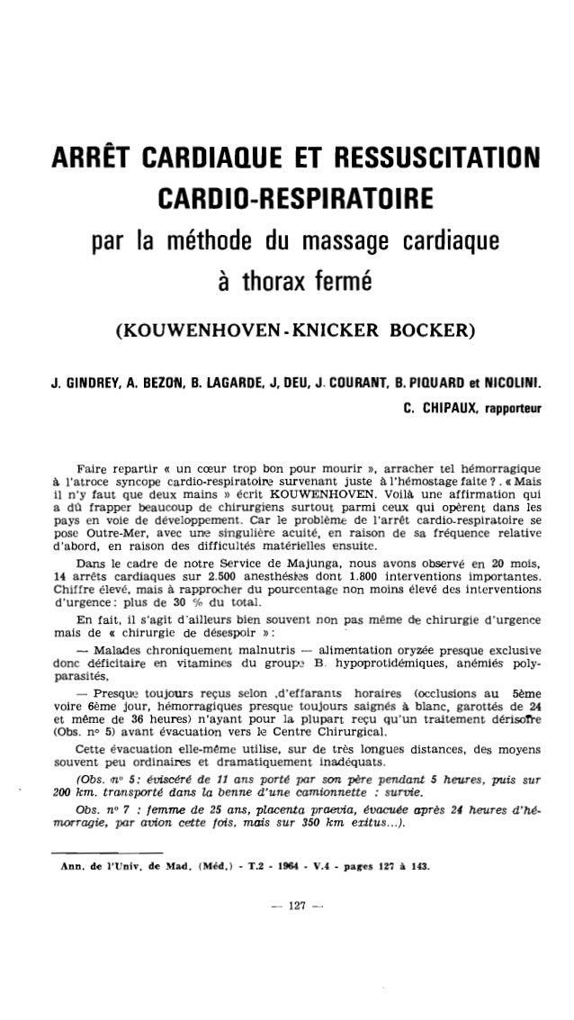 1960 : le Dr Kouwenhoven brise le dogme de la reanimation de l'arrêt cardiaque à thorax ouvert...