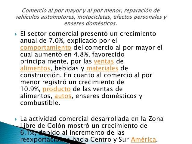    Esta categoría mostró un incremento global anual    de 5.8%, en donde la actividad inmobiliaria de    mercado, present...