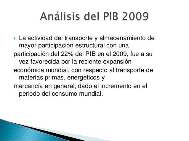 Anal. y evol. del pib 2004 2009