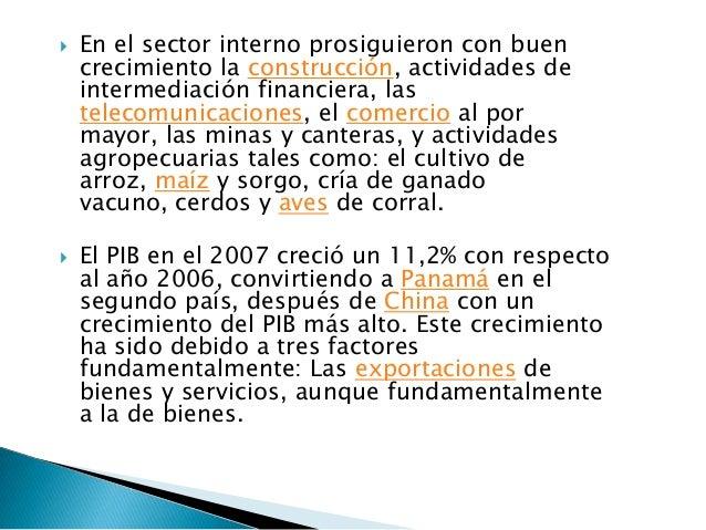   Este sector registró, para el año un    crecimiento de 2.2%, dado un positivo    desempeño de rubros como el arroz y e...