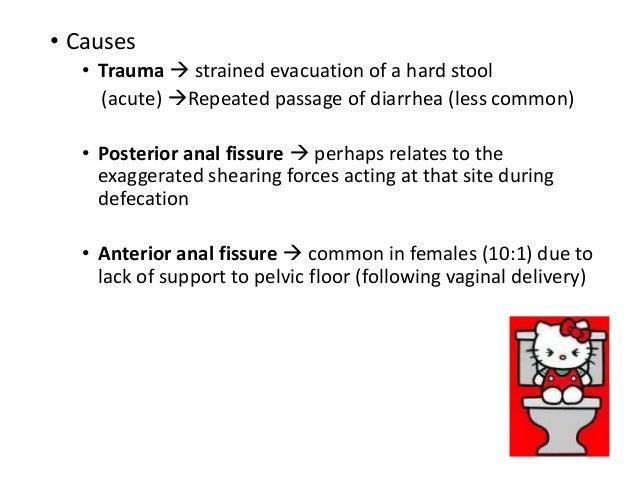 Diarrhea anal fissure