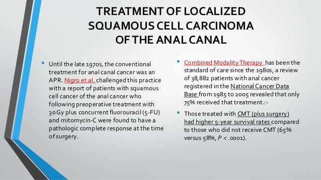 Treatment for anal canccer
