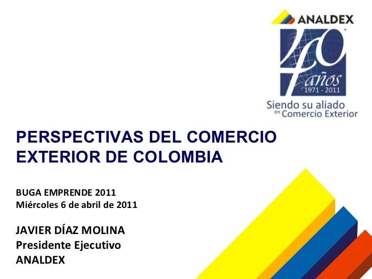 Analdex perspectivas del comercio exterior de colombia for Comercio exterior