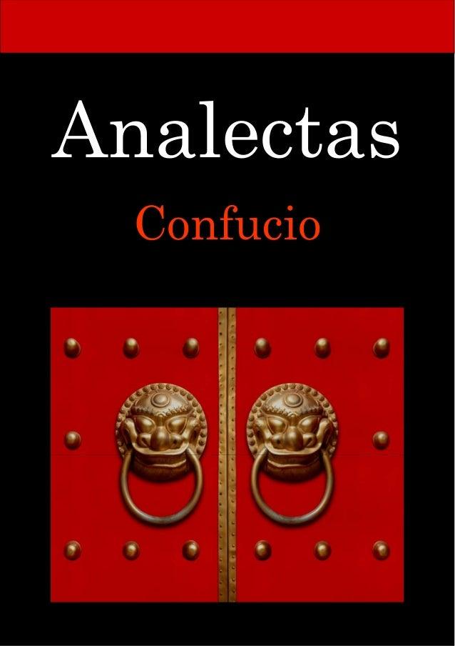 el libro las analectas de confucio