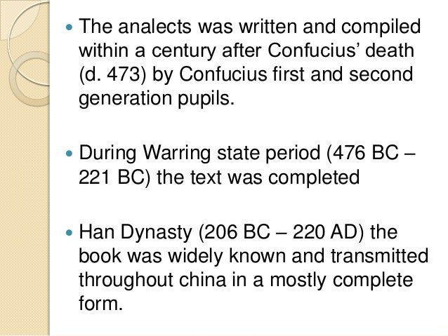 analects essay Passages from the analects of confucius essays: over 180,000 passages from the analects of confucius essays, passages from the analects of confucius term papers.