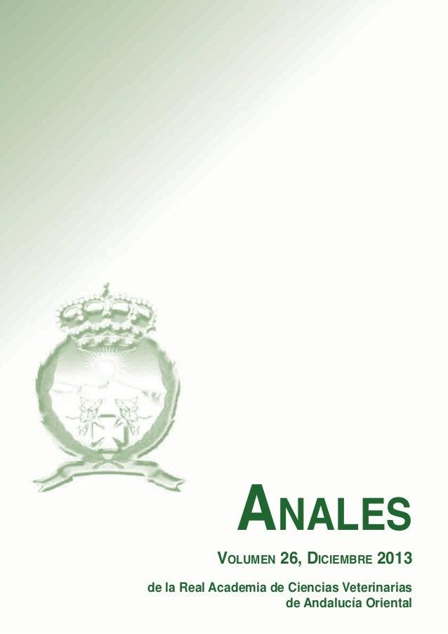 Anales vol 26 2013