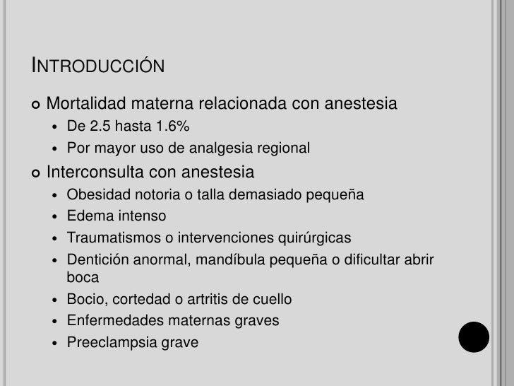Analgesia y anestesia obstétrica Slide 2