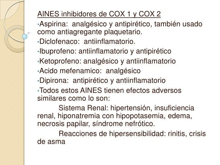 Analgesico y efectos adversos