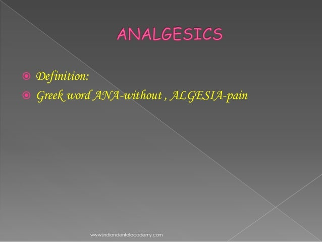 Analgesics general dentistry /certified fixed orthodontic