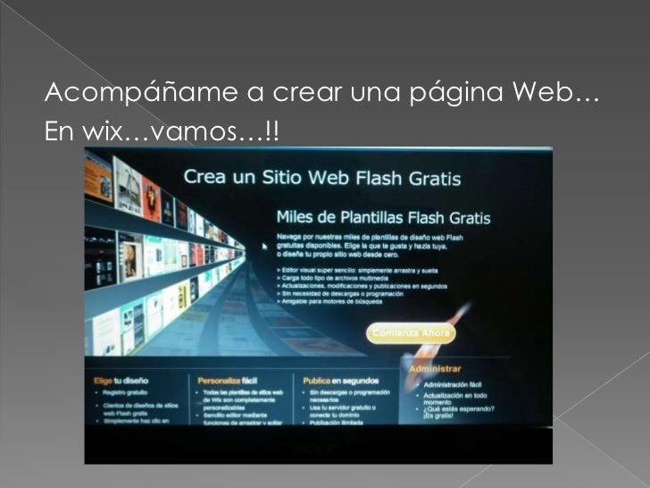Acompáñame a crear una página Web…En wix…vamos…!!