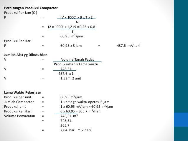 Analisa Biaya Penggunaan Alat Berat