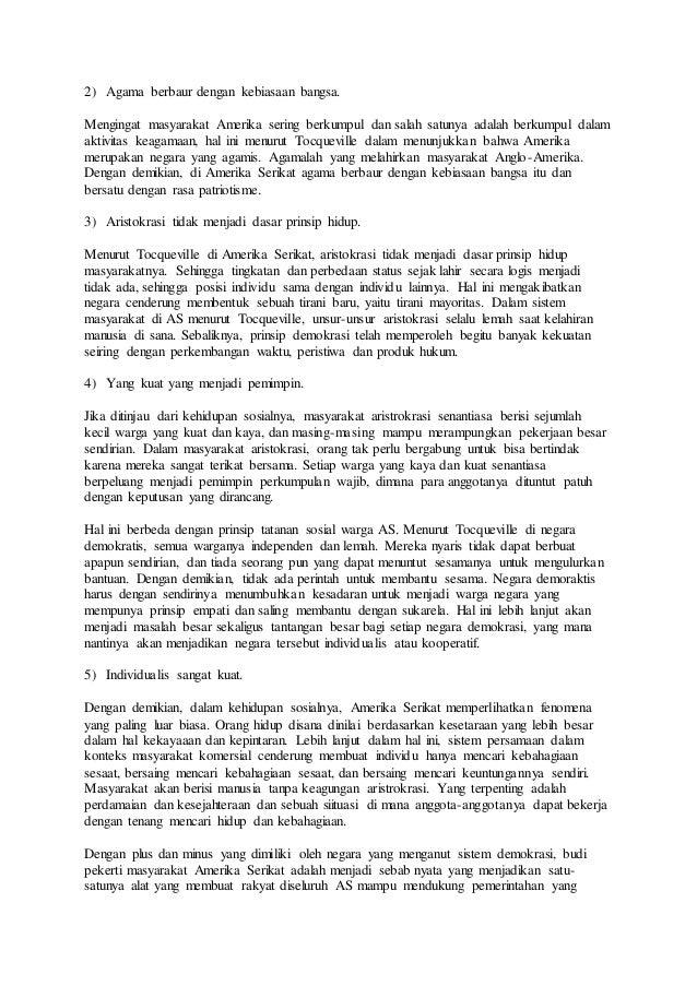 Analisa Penerapan Demokrasi Di Indonesia Dengan Amerika Serikat
