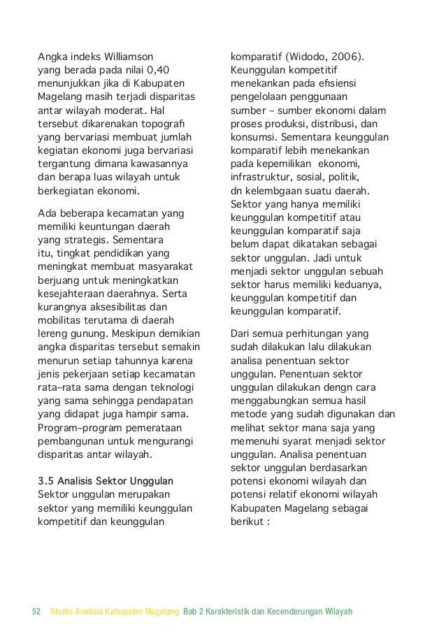 Analisa Studio Wilayah; Kabupaten Magelang