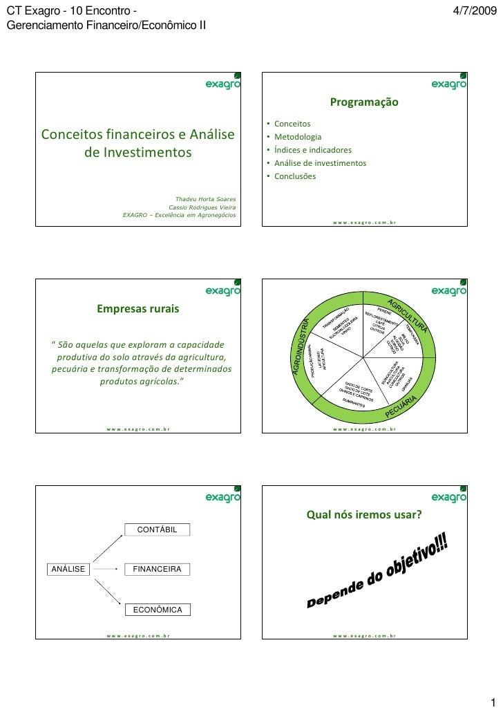 CT Exagro - 10 Encontro -                                                                               4/7/2009Gerenciame...