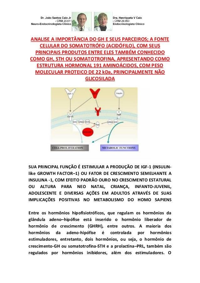 ANALISE A IMPORTÂNCIA DO GH E SEUS PARCEIROS; A FONTE CELULAR DO SOMATOTRÓFO (ACIDÓFILO), COM SEUS PRINCIPAIS PRODUTOS ENT...