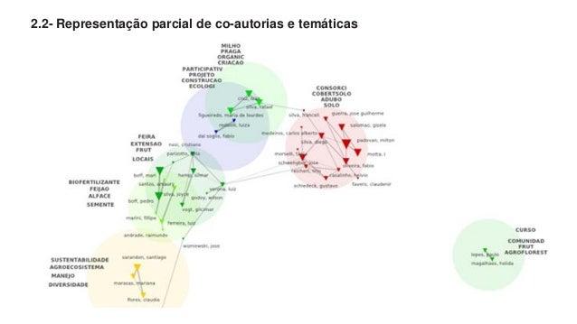 2.2- Representação parcial de co-autorias e temáticas