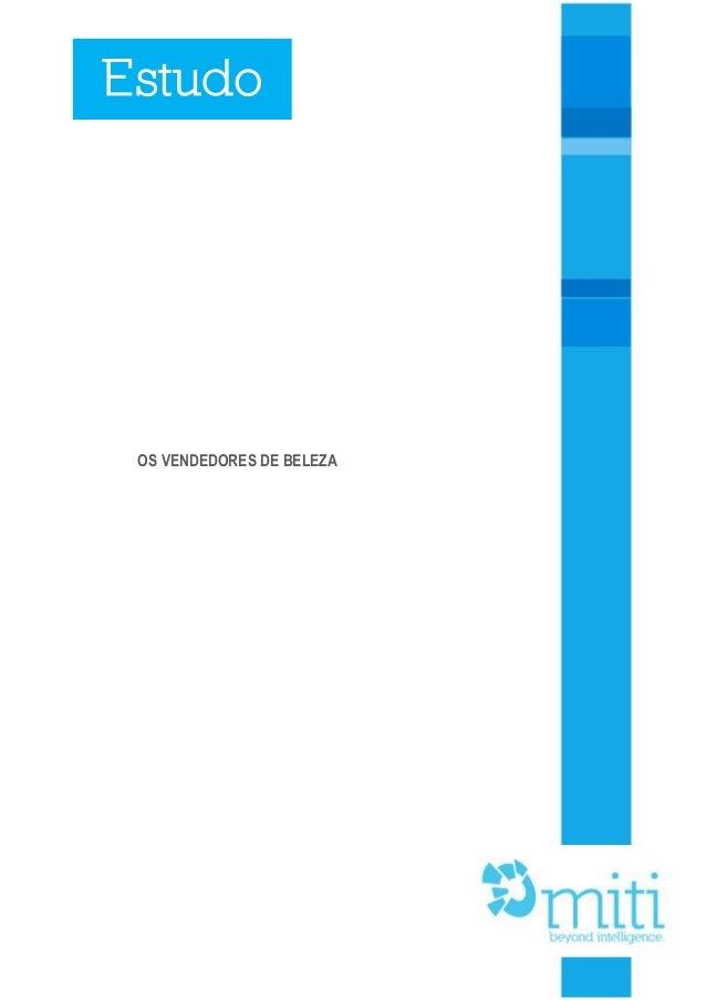 1 OS VENDEDORES DE BELEZA Estudo