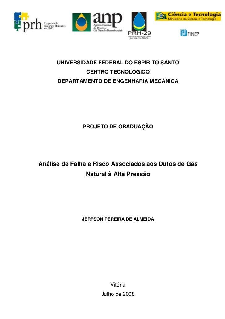 UNIVERSIDADE FEDERAL DO ESPÍRITO SANTO               CENTRO TECNOLÓGICO      DEPARTAMENTO DE ENGENHARIA MECÂNICA          ...