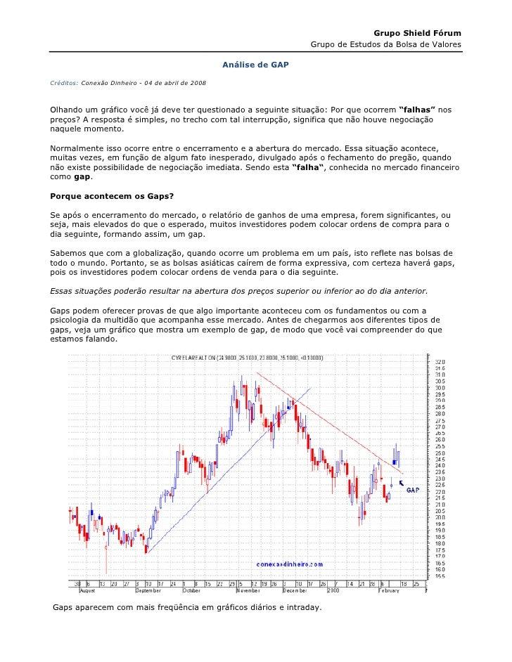 Grupo Shield Fórum                                                                    Grupo de Estudos da Bolsa de Valores...