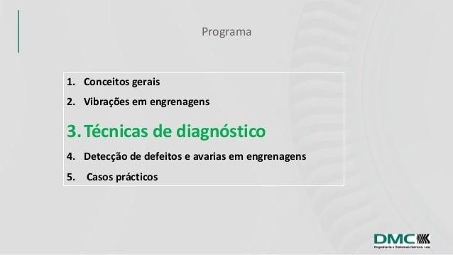 Análise de vibrações em engrenagens 3  - Técnicas de diagnóstico Slide 3
