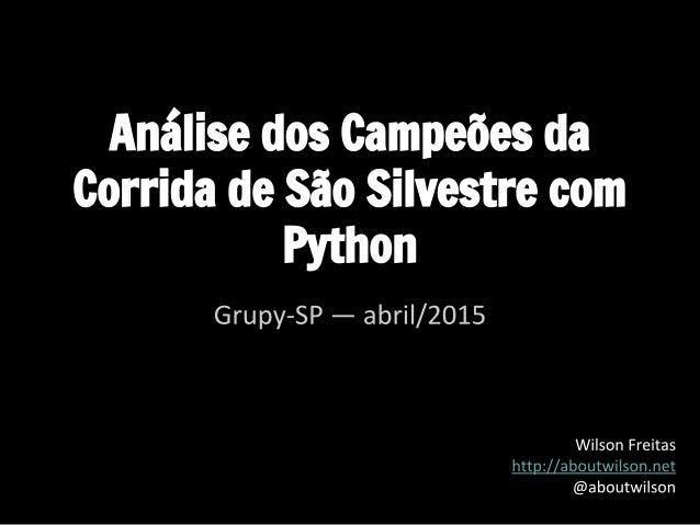 Análise dos Campeões da Corrida de São Silvestre com Python