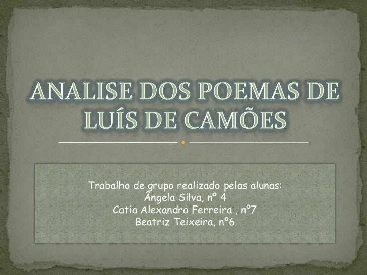 Trabalho de grupo realizado pelas alunas:           Ângela Silva, nº 4    Catia Alexandra Ferreira , nº7         Beatriz T...
