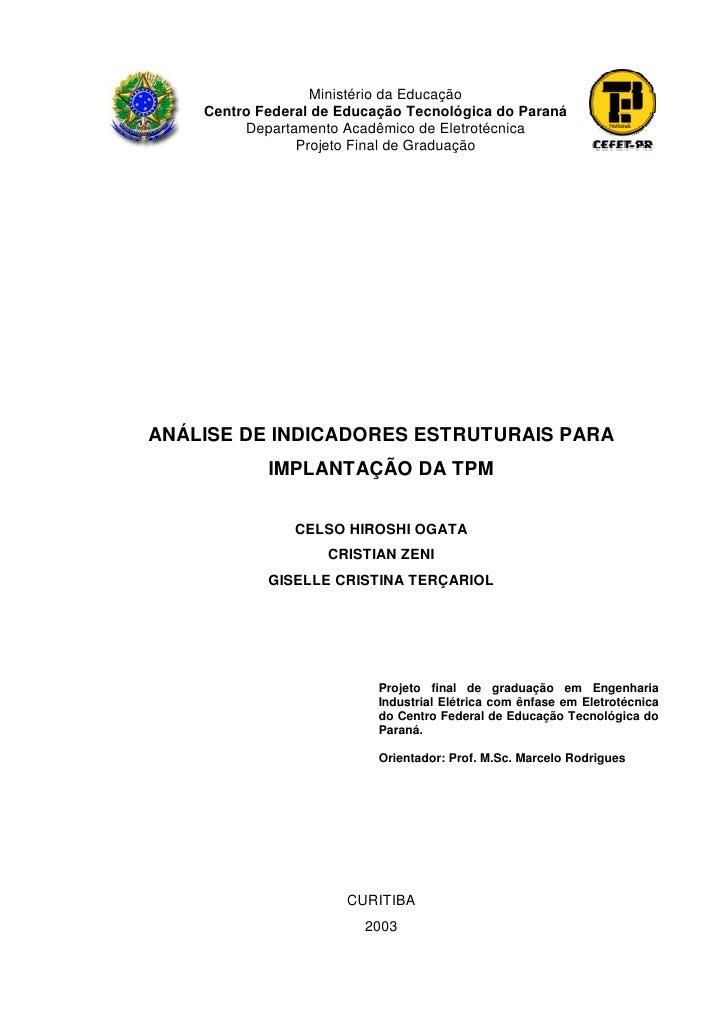 Ministério da Educação    Centro Federal de Educação Tecnológica do Paraná         Departamento Acadêmico de Eletrotécnica...