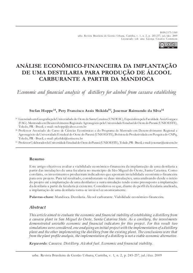 ISSN 2175-3369  urbe. Revista Brasileira de Gestão Urbana, Curitiba, v. 1, n. 2, p. 245-257, jul./dez. 2009  Licenciado so...
