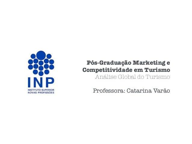 Pós-Graduação Marketing e Competitividade em Turismo Análise Global do Turismo Professora: Catarina Varão