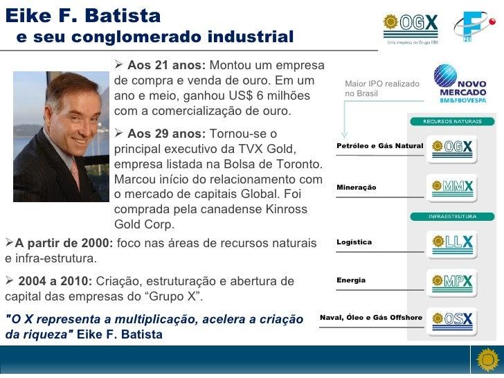 Petróleo e Gás Natural Naval, Óleo e Gás Offshore Eike F. Batista   e seu conglomerado industrial  <ul><li>A partir de 200...