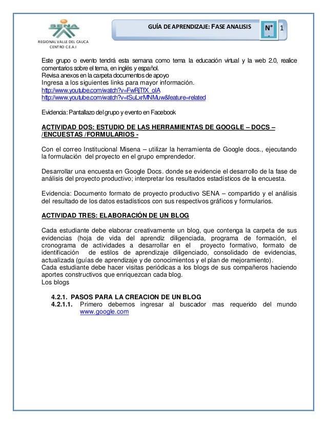 GUÍA DE APRENDIZAJE: FASE ANALISIS REGIONAL VALLE DEL CAUCA CENTRO C.E.A.I  N° 1 1  Este grupo o evento tendrá esta semana...