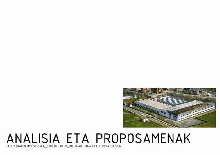 Analisia Eta Proposamenak