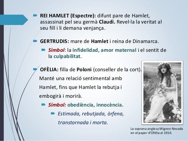  POLONI: camarlenc del regne i pare d'Ofèlia i Laertes. Conspira a favor de Claudi, però és assassinat per Hamlet (per er...