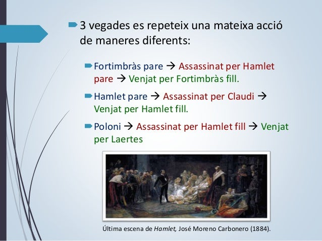 ESPAI I TEMPS  ESPAI: Dinamarca, en el Castell d'Elsinor i al cementiri.  TEMPS: Temps històric: no es precisa. Temps ...