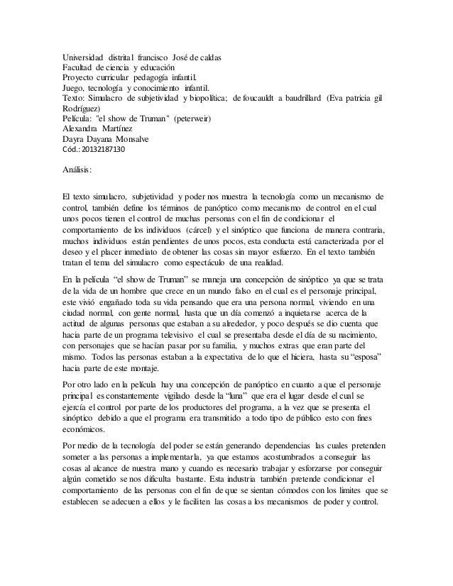 Universidad distrital francisco José de caldas Facultad de ciencia y educación Proyecto curricular pedagogía infantil. Jue...