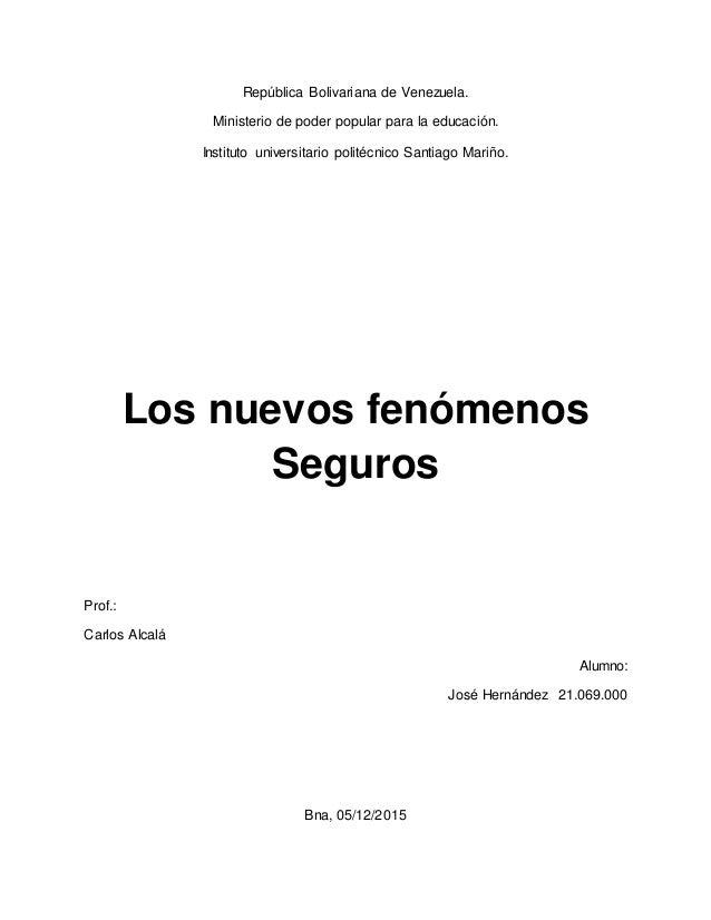 República Bolivariana de Venezuela. Ministerio de poder popular para la educación. Instituto universitario politécnico San...