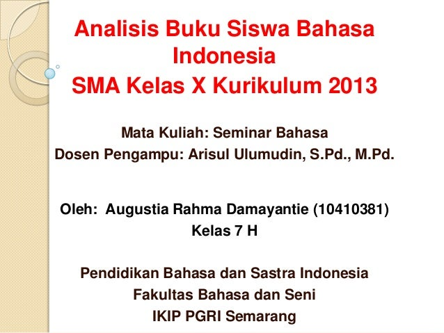 Buku Siswa Kurikulum Kelas X Bahasa Indonesia Download Lengkap