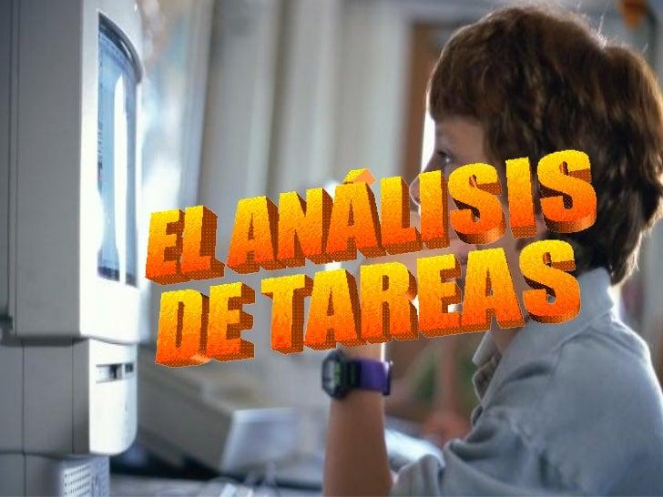 EL ANÁLISIS DE TAREAS