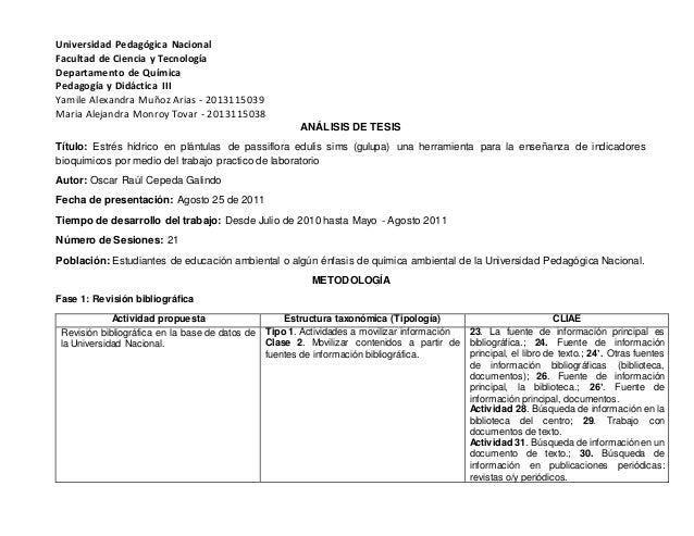 Universidad Pedagógica Nacional Facultad de Ciencia y Tecnología Departamento de Química Pedagogía y Didáctica III Yamile ...