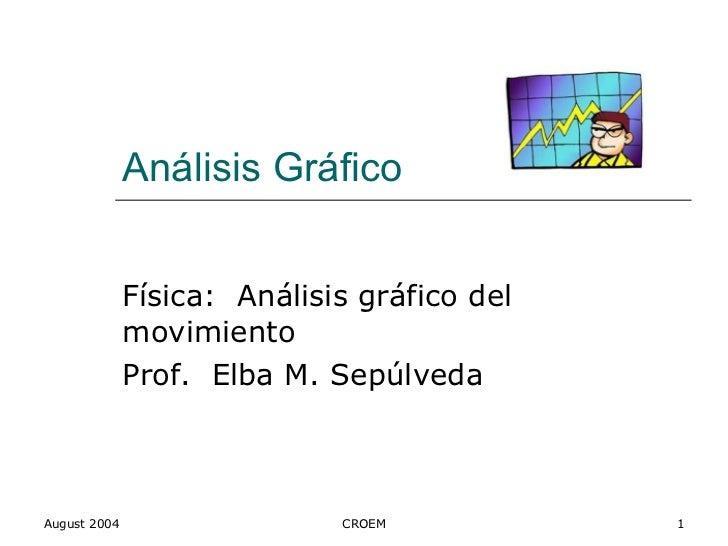 Análisis Gráfico Física:  Análisis gráfico del movimiento Prof.  Elba M. Sepúlveda