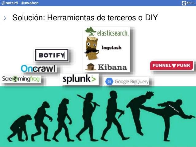 www.analistaseo.es @natzir9 | #uwabcn › Solución: Herramientas de terceros o DIY