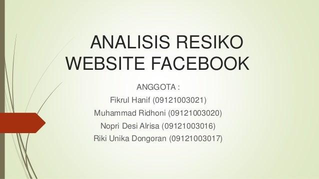 Analisis Resiko Website Facebook