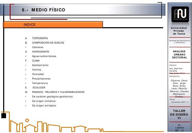 Universidad Privada de Tacna Facultad de Arquitectura y Urbanismo Cátedra: Arq. Gabriela Heredia  Arq. Juana Ortiz Estudia...