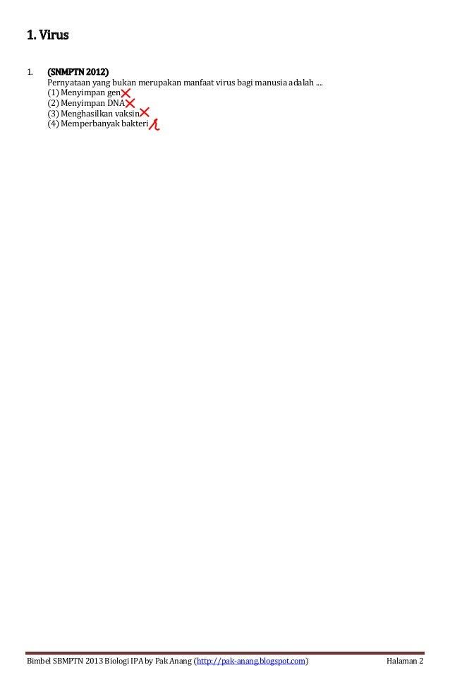 Analisis Bedah Soal Sbmptn 2013 Biologi Ipa