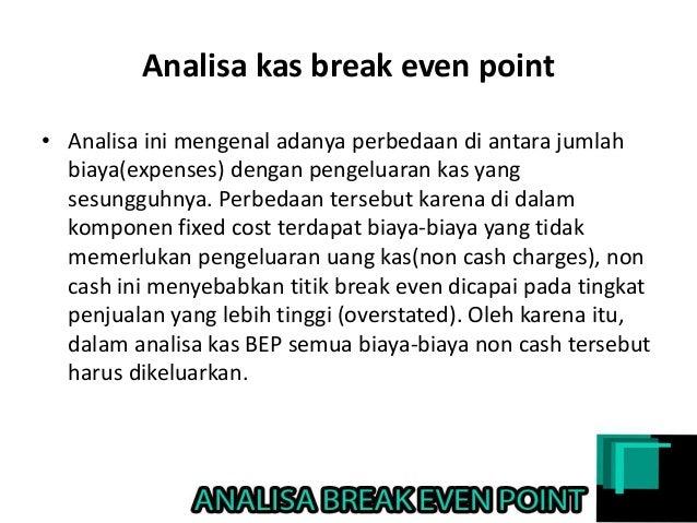 Analisis Break Even Point Lengkap